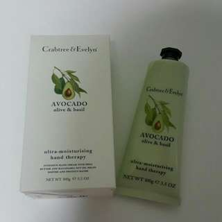 Crabtree & Evelyn Avocado Olive & Basil Ultra-Moisturising Hand Therapy