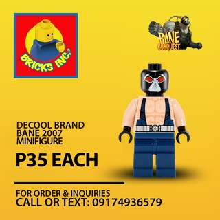 DECOOL Bane 2007 Minifigures