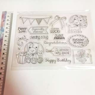 Happy birthday Clear stamp