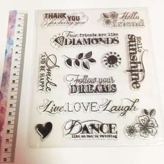 Live love laugh Clear stamp