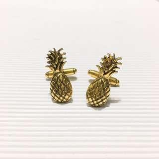 Huat Ah! Golden Pineapple Cufflinks
