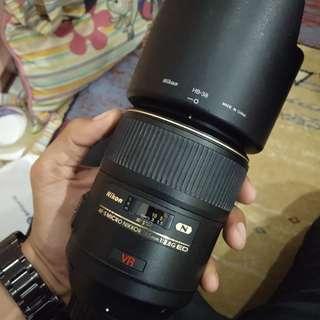 Lensa Nikon 105 mm F2.8 G VR - Like New Condition