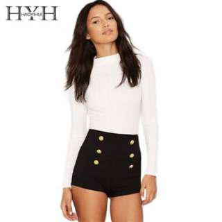 Black High Waisted Short