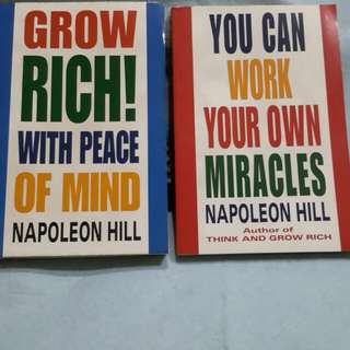 Books NAPOLEON  HILL  ( GROWN RICH WITH PEACE OF MIND & WORK YR OWN MIRACLES )