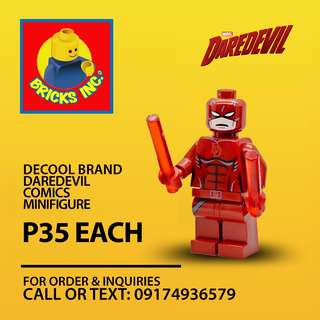 DECOOL DareDevil Comics Edition Minifigures