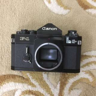 1980 Olympic Canon F1n SLR Film Camera + Leather Camera Case