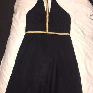 Bariano Gown Medium Black and Gold