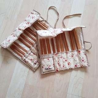 Clover Takumi bamboo knitting needle set