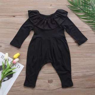 BB-0006 Baby Girls Rompers All Black