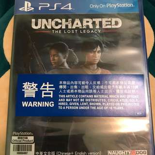 💥Follow再減$5 - 全新 PS4 - Uncharted The Lost Legacy
