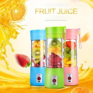 [PO] Mini Portable Electric USB Rechargeable Juicer Water Bottle 400ml