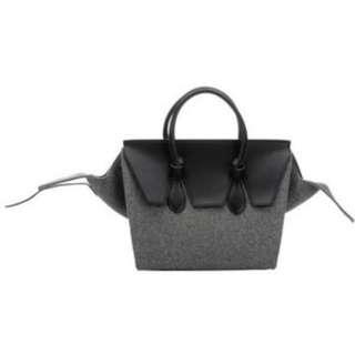 Celine grey wool tie knot bag