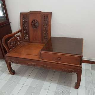 Teakwood telephone sofa chair