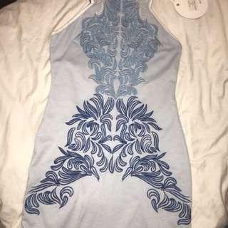 Blue Mini Summer Dress
