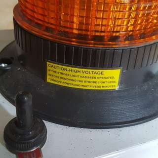 Battery Emergency warming rotation light