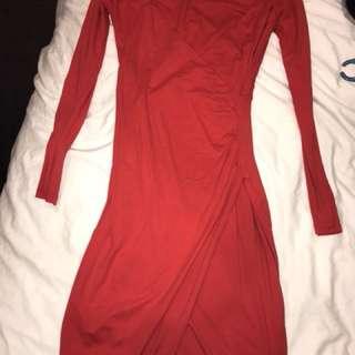 Red Kookai Dress Size 2