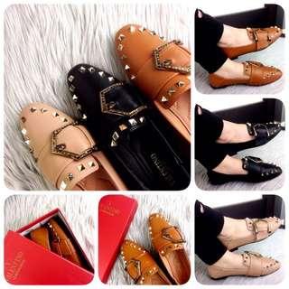 VALENTINO GARAVANI First Lady Leather Loafers