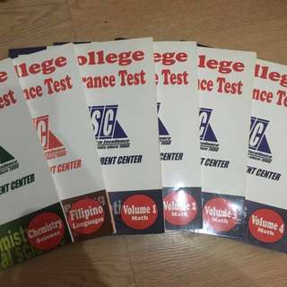 LSC College Entrance Test Reviewer books