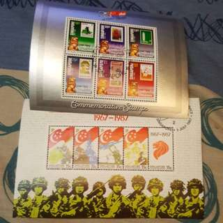5 set of Singapore stamps.