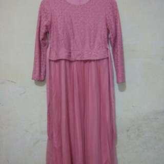 Baju muslim pink anak