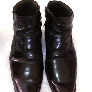 Sepatu kulit pantovel boots ( ori )