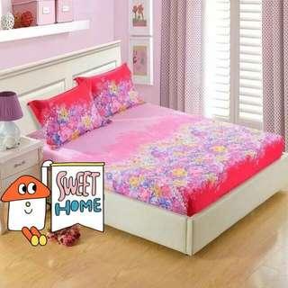🚚 床罩加2枕頭套 150×180  純棉