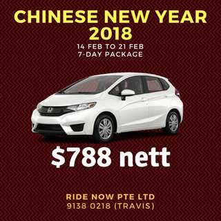 Chinese New Year 2018 $788 package 14-21Feb