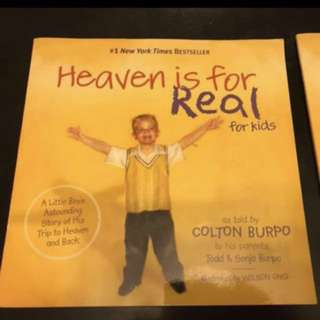 Heaven is for real New York best seller bible kids