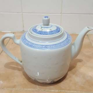 Antique oriental rice grain teapot