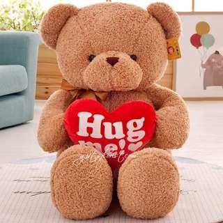 Valentine's Teddy Bear Hug Me Bear I Love You Bear