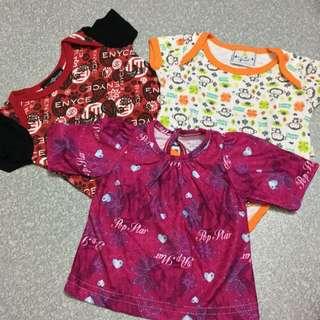 🆕[bundle of 3] baby romper & shirt