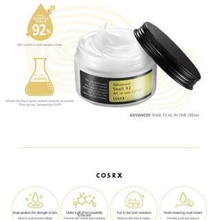 Instock CosRX Advanced Snail 92 Cream