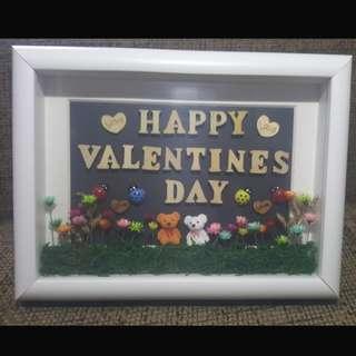 Frozen flowers 3D Valentine's Day frame