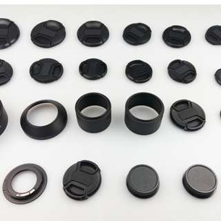 Canon Nikon M4/3 EMount Lens Rear Caps Lens Caps And Full Metal Lens Hoods