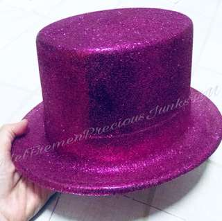 Fuchsia Glitter Party Hat