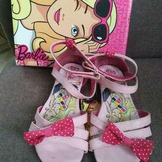 Barbie pink ribbon sandals size 13(31)