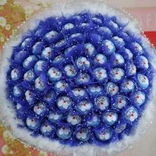 66 Lovely Blue Doraemon Bouquet
