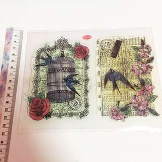 Bird cage clear stamp