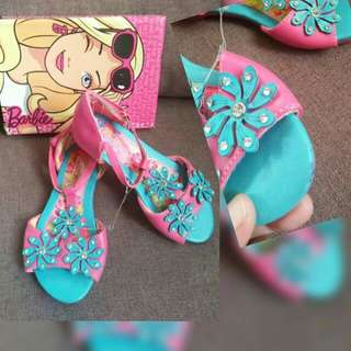 Barbie fuschia/blue floral sandals size:12,4