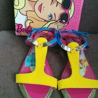 Barbie yellow/blue sandals size:3,4,6