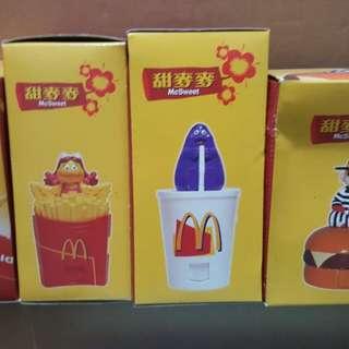 McDonald's 麥當勞 甜麥麥 人形公仔1Set4pcs