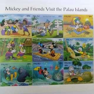 📮絕版限量米奇老鼠卡通郵票一套