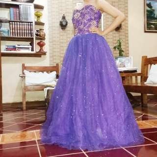 2 ball gown bundle (Purple and Dark pink)