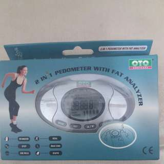100%New OTO 2in1 Pedometer with Fat Analyzer
