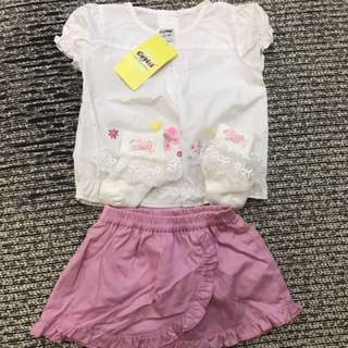 Baby Girl Clothes - blouse & skirt