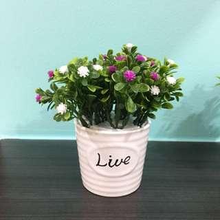Artificial display flower pot