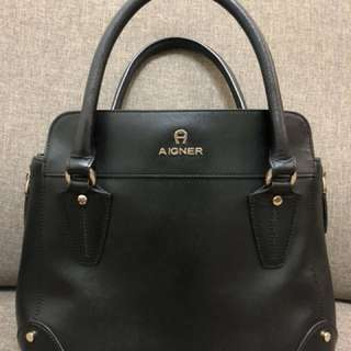 Aigner Saffiano Leather