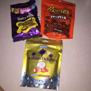 SNR Assorted imported chocolate 100 each