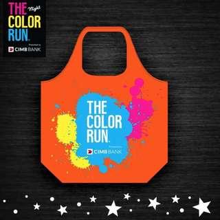 The Color Run (2017) Foldable Tote Bag + Sompo Foldable Shoe Bag