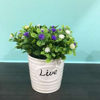 Artificial flower pot for display